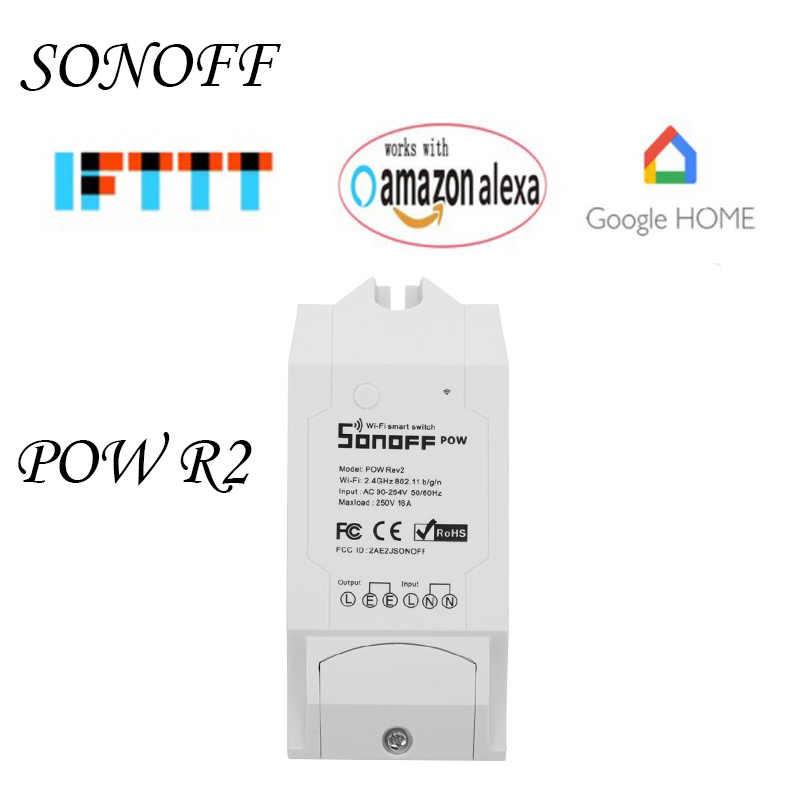 Sonoff Pow R2 WiFi interruptor inalámbrico/de 15A casa inteligente en tiempo Real con el consumo de energía de medición remoto control