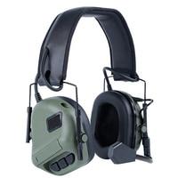 Tático fone de ouvido caça ao ar livre fone de ouvido militar airsoft tiro earmuff acessórios caça protetora