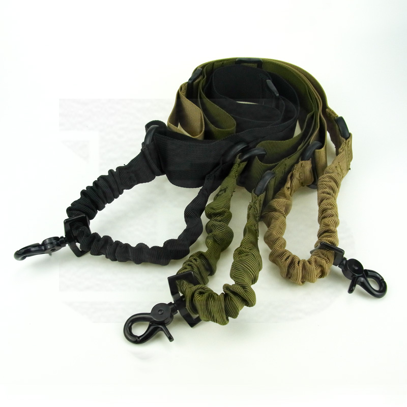 NEW Single One Point Rifle Gun Tactical Sling Bungee Strap Hook Belt