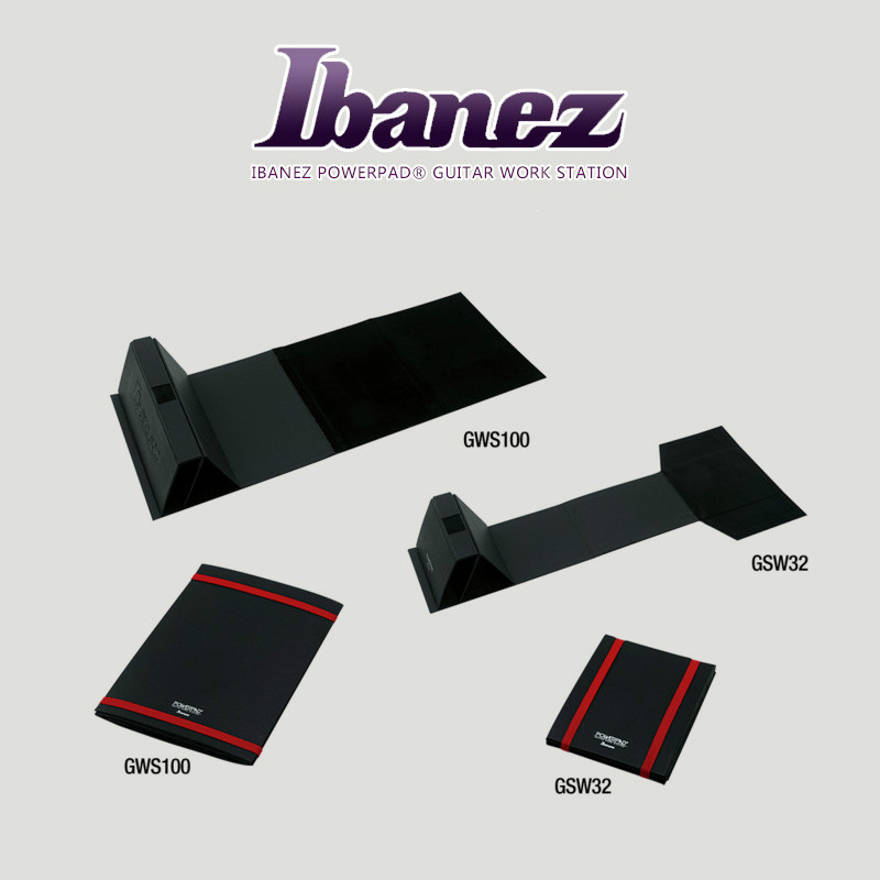 Poste de travail Portable Ibanez GWS100 guitare Tech Powerpad avec Support de cou sécurisé