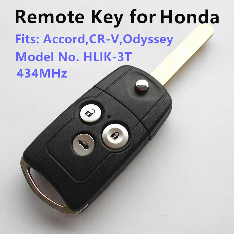 Prix pour Télécommande de la clé pour honda accord crv cr-v civic odyssey voiture à distance auto clé keyless entry modèle no: hlik-3t