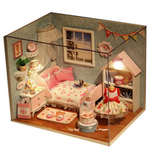 15.1*11.6*13.1cm DIY cottage hand-assembled model house construction special birthday gift girl toy happiness kitchen