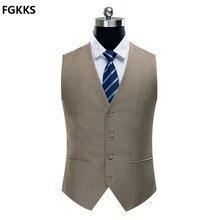2016 neue Ankunft Casual Qualitätsmarke männer Weste Mode Dünne Fit herren Einfarbigen Anzug in 4 farben aus dem fall