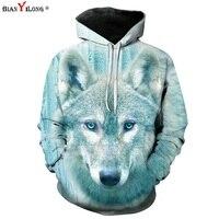 Space Galaxy 3D Sweatshirts Men Women Tracksuits Tops Print Galaxy Wolf Hooded Hoodies Plus Size 6XL