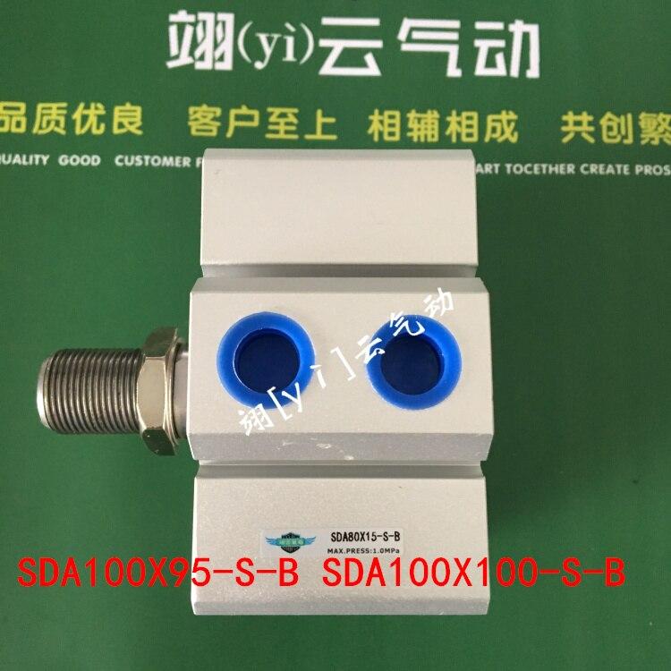 SDA100X95-S-B SDA100X100-S-B AIRTAC Thin cylinder air cylinder pneumatic component air tools diameter 40mm sc100x125 s airtac standard cylinder air cylinder pneumatic component air tools sc series