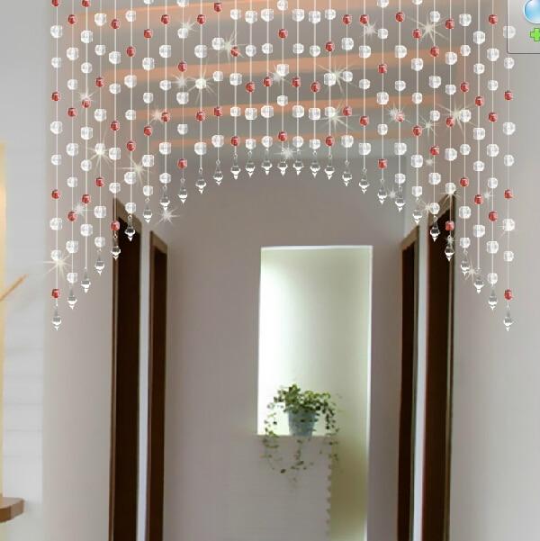 Superbe DIY Acrylic Beads Curtain Window Door Curtain Wedding Backdrop Pink Red  Yellow Green Black Purple