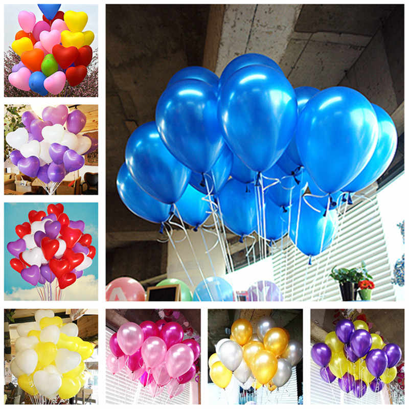 5pcs 2.2g Heart Latex Balloons Children Party Decorations Wedding Balloons Baby Shower Balloons Inflatable Balls Ballon Marriage