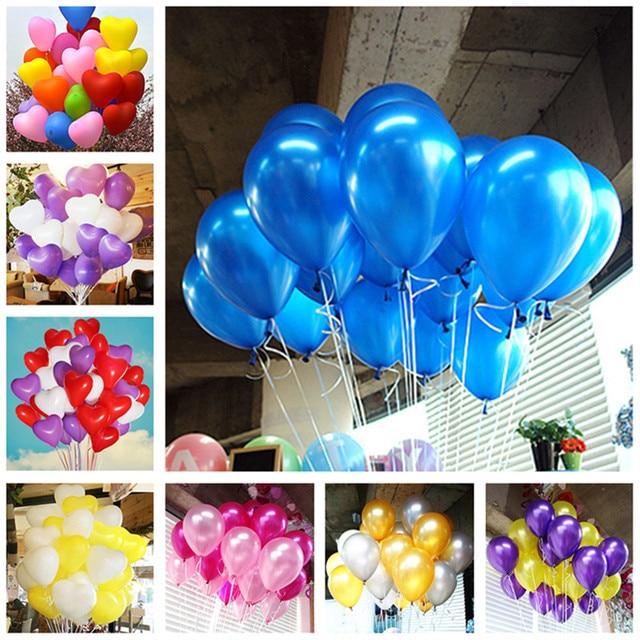 5pcs 1.5g Heart Latex Balloons Children Party Decorations Wedding Balloons Baby Shower Balloons Inflatable Balls Ballon Marriage