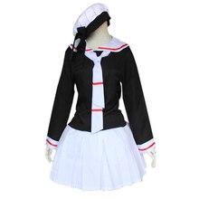 Cardcaptor Sakura Cosplay Kinomoto sailor suit school uniform Costume Womens