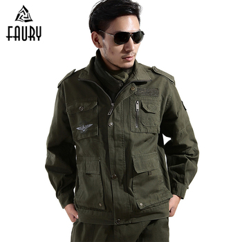 High Quality Military Uniform Army Green Tactical Combat Military Flight Jacket+Cargo Pant Pilot Air Force Men CS Clothing Male