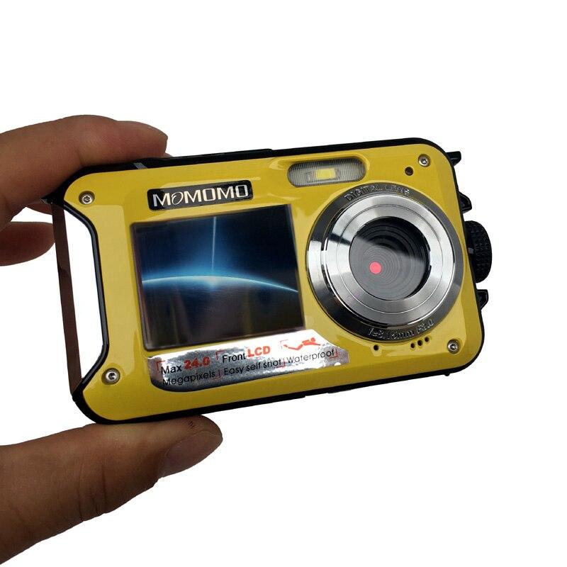 HTB1zlzlqbGYBuNjy0Foq6AiBFXa7 Waterproof Digital Camera Dual Screens (Back 2.7 inch + Front 1.8 inch) HD 1080P 16x Zoom Camcorder Cam  DC998