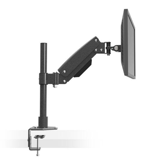 Desktop Clamping Heavy Duty Full Motion Gas Spring LCD LED Monitor Holder Arm Grommet Mount Height Adjustable Loading 10kgs L151 desktop clamping full motion 10 30 inch triple monitor holder 360 degree three led lcd monitor mount arm bracket 10kgs per arm