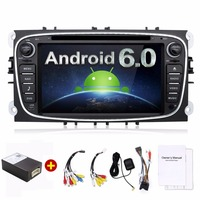 Quad Core 2din Android 6 0 Car DVD For Ford Mondeo C Max S Max With