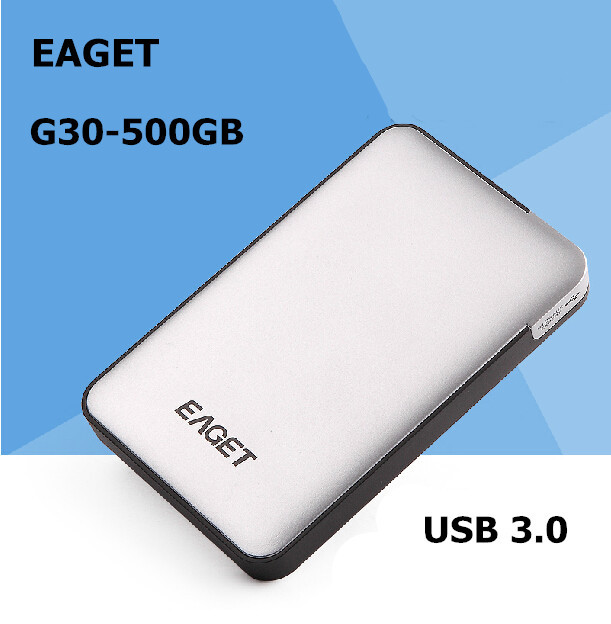 EAGET G30-500GB USB 3.0 High speed External Hard Drives portable Desktop and Laptop mobile hard disk genuine Free shipping