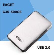 EAGET G30-500GB USB 3.0ความเร็วสูงฮาร์ดไดรฟ์ภายนอกสก์ท็อปแบบพกพาและแล็ปท็อปฮาร์ดดิสก์มือถือของแท้จัดส่งฟรี