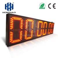 Honghao 8 inch 6digit большой светодиодный открытый большой секундомер электронный таймер обратного отсчета для спортивного матча Race