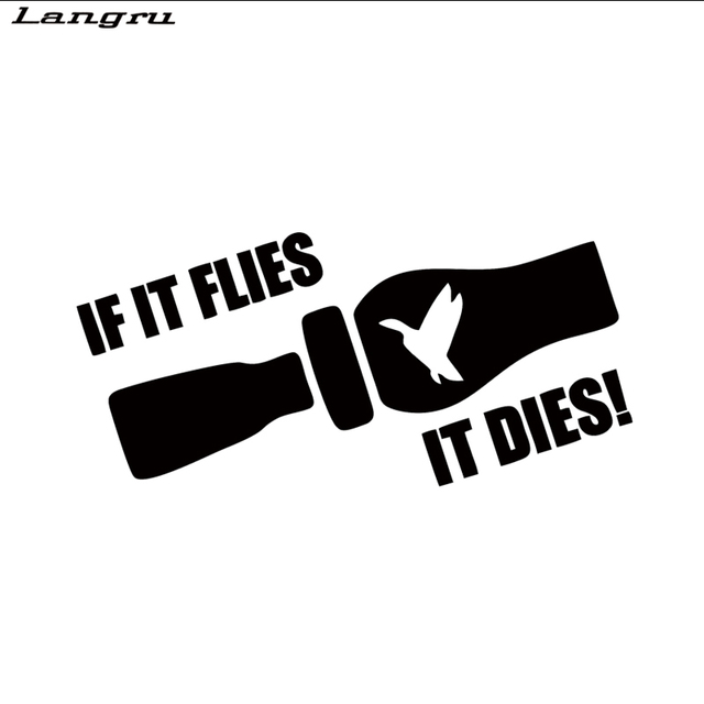 Langru hot sale if it flies it dies duck hunting car sticker for truck window bumper