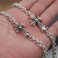 Star With Money Cross Bracelet Real 925 Sterling Silver Friendship Bracelet Bangle For Men Loom Bands