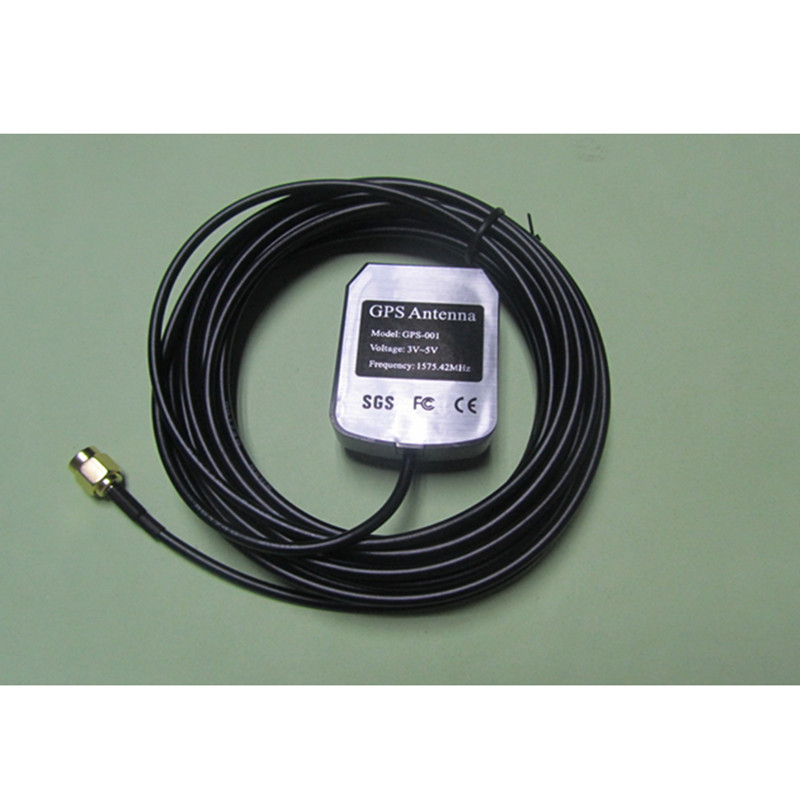 Car <font><b>GPS</b></font> Receiver SMA Conector 3M cable <font><b>GPS</b></font> Antenna car Auto aerial <font><b>adapter</b></font> for DVD Navigation Night Vision Camera image