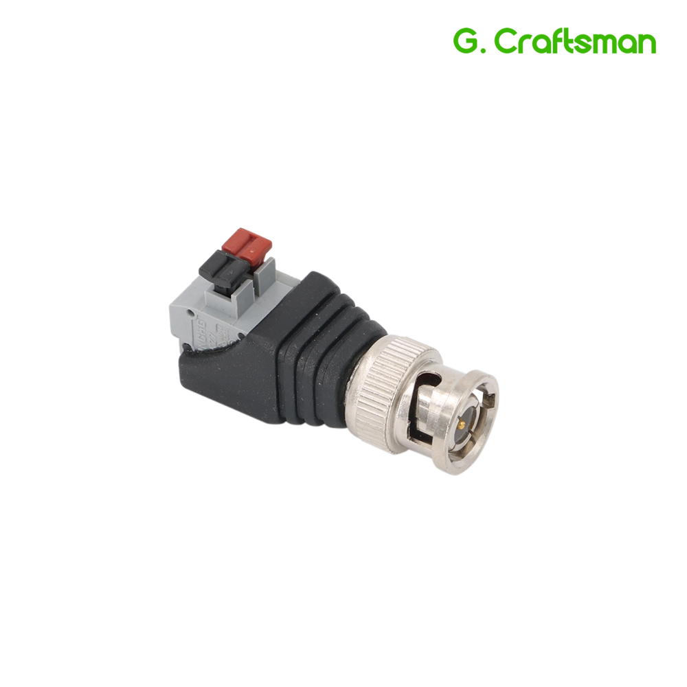 BNC Male Plug Push Fastening Type 12V Connector CCTV Cameras Socket Adapter System Accessories B18 G.Ccraftsman