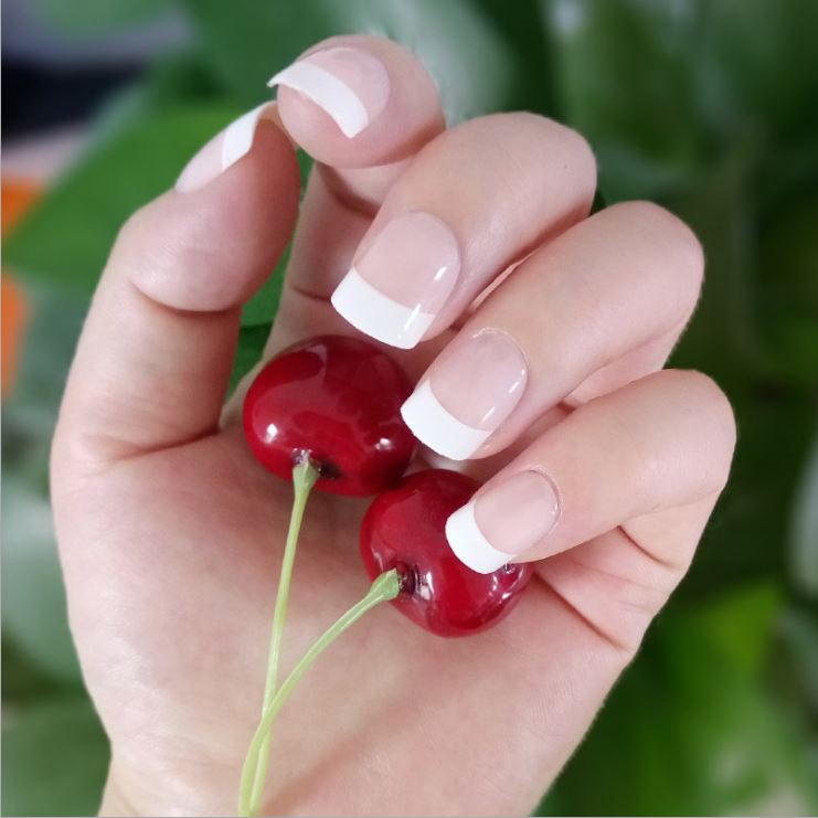 72pcs Lot Natural Realistic Fake Nails Nail Art Make Up Full Cover False Sticker Tips French Manicure Artificial Gel In Underwear From Mother