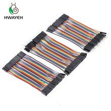 Dupont line 120 шт. 10 см 2,54 мм мужской+ мужской женский и Женский Соединительный провод Dupont кабель для arduino