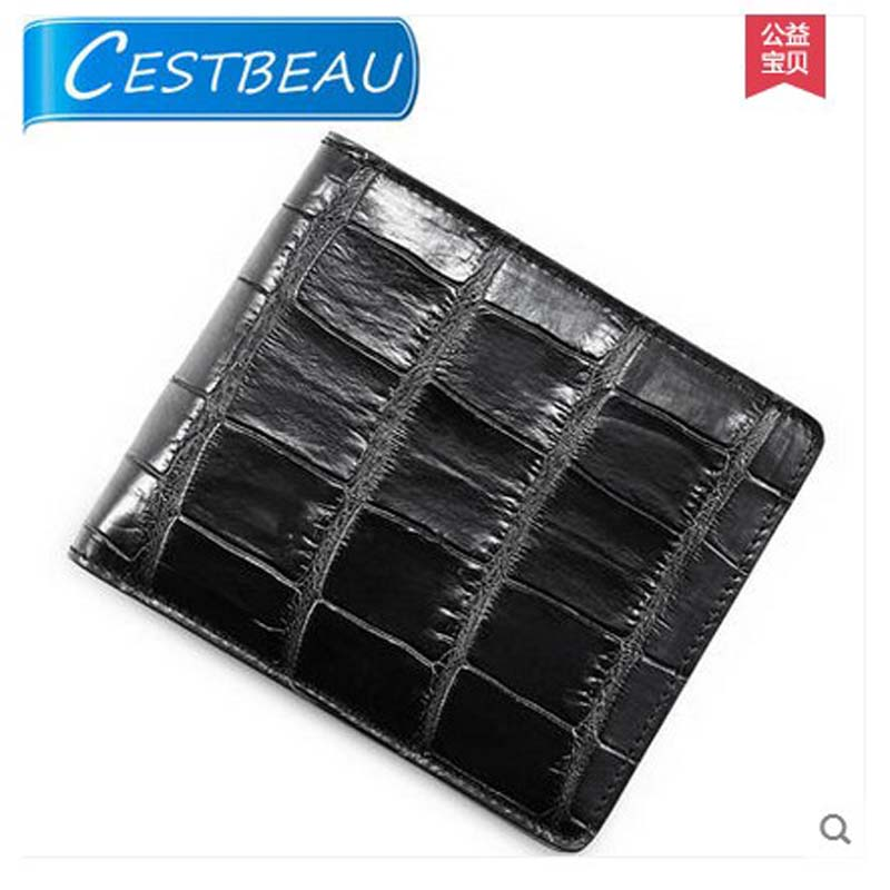 2018 Cestbeau real nile crocodile men wallet man short and multi-carb,alligator skin belly money men wallet мышь defender mm 340 черный зеленый 52346