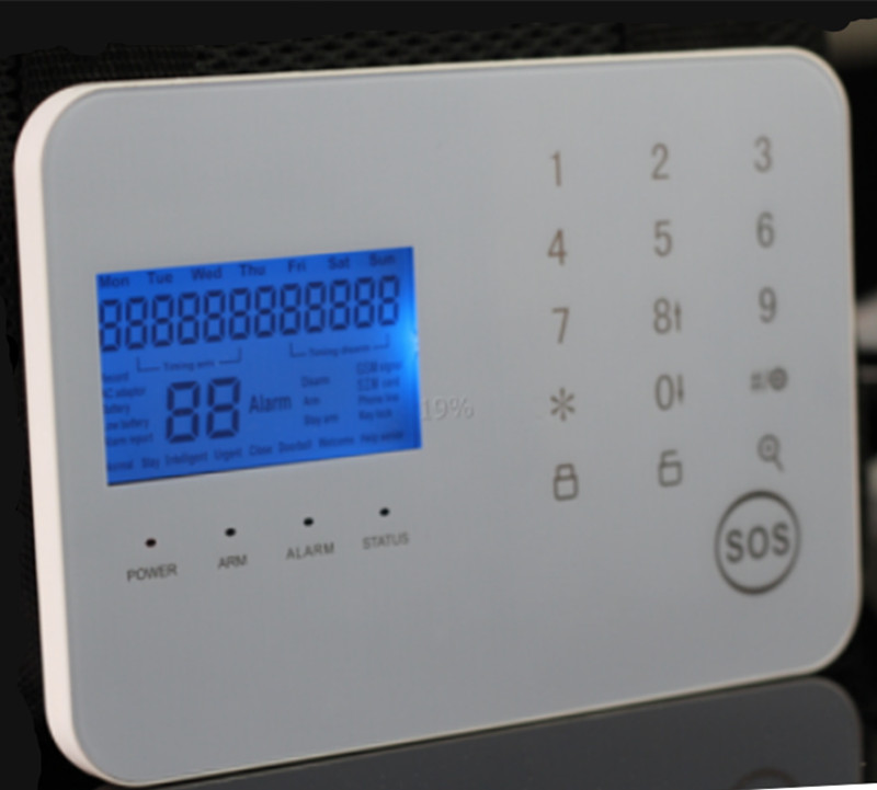 Big LCD Display GSM+PSTN Alarm System With SOS Function