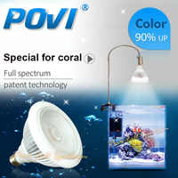 POVI Acuario Llevó la Iluminación de Arrecife de Coral Espectro Completo Llevado crece la Lámpara de luz LED Bombillas E27 par30 18 W