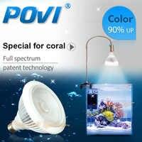 POVI Conduziu a Iluminação Do Aquário Espectro Completo Levou Recife de Coral cresce a luz Da Lâmpada LED Lâmpadas E27 par30 18 W