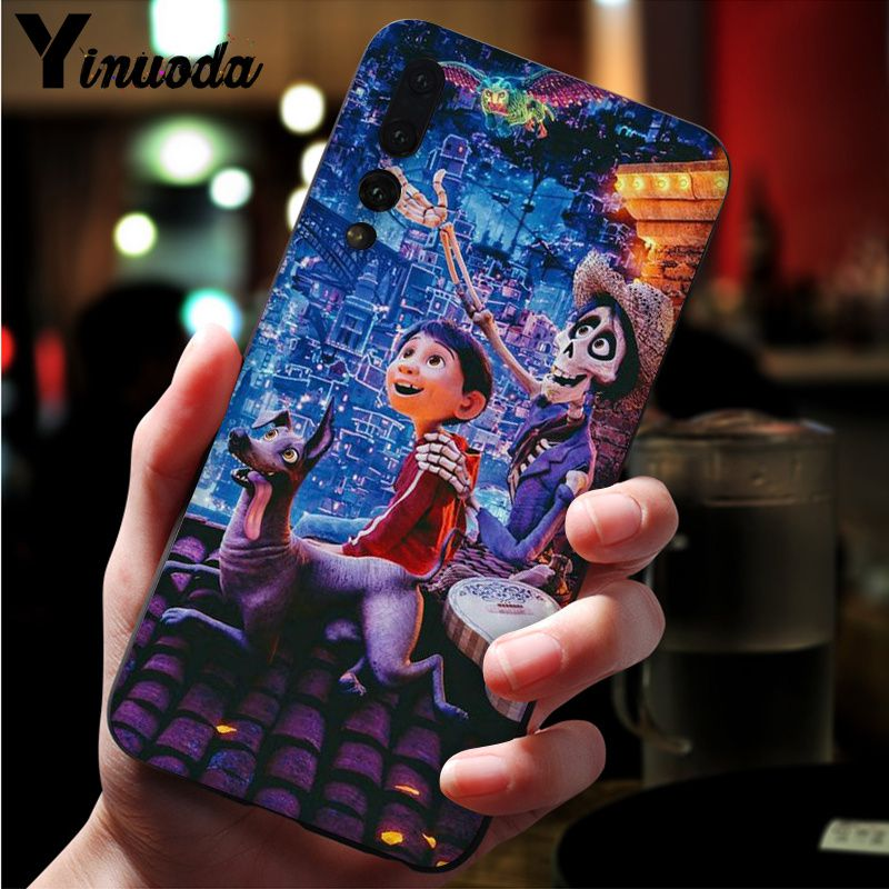 Image 3 - Yinuoda Dreaming around the world Coco Black TPU Soft Silicone Phone Cover for Huawei Mate10 Lite P20 Pro P10 Plus Honor 9 10-in Half-wrapped Cases from Cellphones & Telecommunications