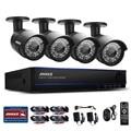 Annke 4ch 1080 p ahd dvr kits de vigilancia 4 unids 2.0mp 3000tvl infrarrojos de visión nocturna impermeable cámara de vídeo de seguridad cctv sistema