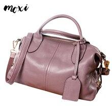 MOXI Натуральная Воловья кожа женская сумка из натуральной кожи классическая сумка через плечо стильная женская сумка большая сумка повседневная сумка