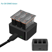Lithium Battery Charger For Osmo Action Sports Camera Lithium Battery Charging Hub Intelligent Charging For Osmo Action Batterie