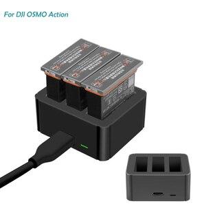 Image 1 - Lityum pil şarj cihazı Osmo Için Eylem Spor Kamera Lityum Pil şarj göbeği Için Akıllı Şarj Osmo Eylem Pil