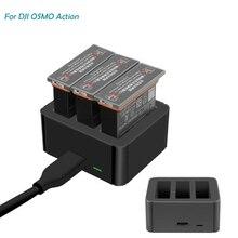 แบตเตอรี่ลิเธียมสำหรับ Osmo กล้องกีฬาแบตเตอรี่ลิเธียมชาร์จ Hub อัจฉริยะสำหรับ Osmo Action Batterie