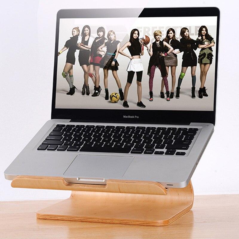 Prix pour Bois Stand Pour Apple Macbook Samdi En Bois Support pour ordinateur portable support de cadre en bois titulaire de portable pour tout ordinateur portable