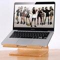 Soporte de madera para apple macbook samdi soporte para portátil de madera marco madera de soporte de soporte para hp portátil para samsung para dell pc