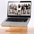Suporte de madeira de madeira suporte para apple macbook samdi para laptop quadro suporte de madeira suporte para notebook hp para samsung para a dell pc