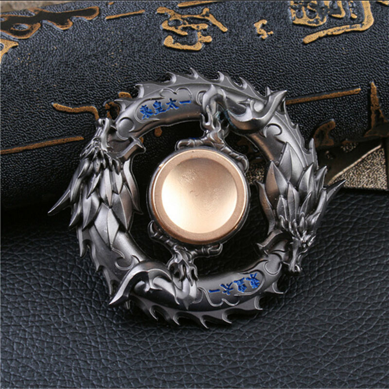 New-golden-Black-dragon-Metal-Fidget-spinner-Zinc-alloy-gyro-rotary-EDC-hand-spinner-for-autism (2)