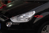 Abs Chrom Kopf Licht Lampe Trim 2PCS für Ford S-MAX SMAX 2007 2008 2009-2012