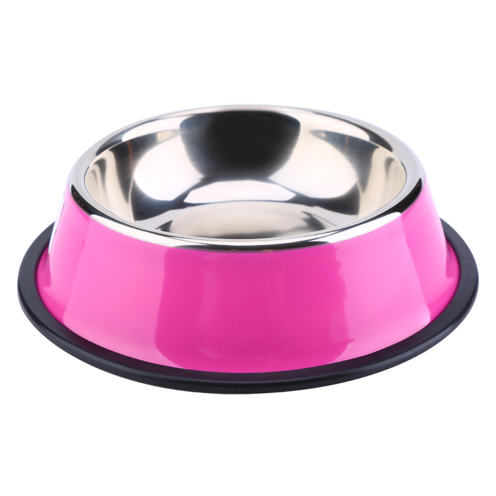 stainless steel pet puppy cat dog food bowl drink water dish feeder drinking bowls cat food dispensers