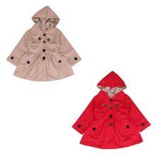 Осеннее детское однотонное ветрозащитное пальто с отстегивающимся капюшоном для девочек, Тренч, пальто