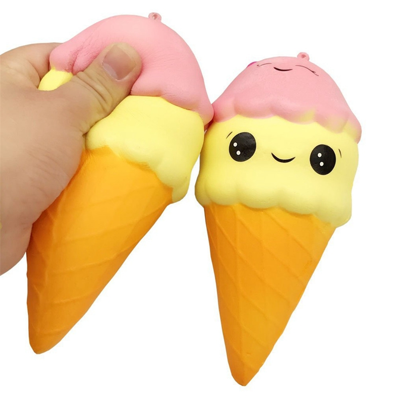 Soft Fun Toy Jumbo Cute Scented Colorful PU Ice Cream Squishy Slow Rising Kid Adult kawaii Antistress Toy