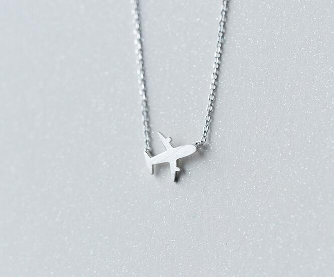 drop shipping Real. 925 Sterling Silver jewelry Aircraft plane airplane Pendants/ Necklace Handmade Wholesale