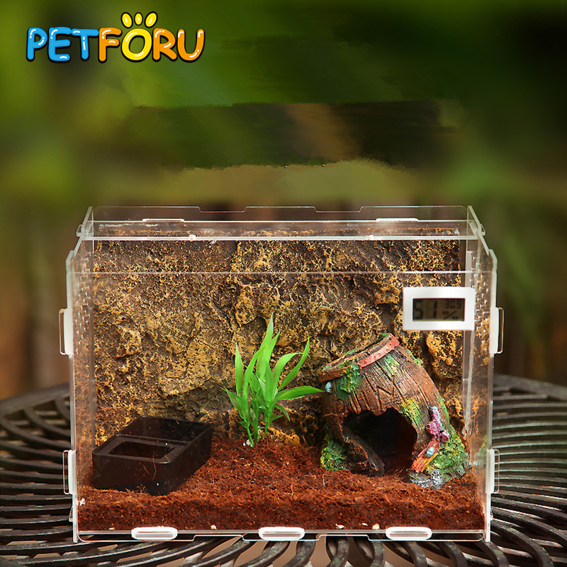 Terrarium Reptile Box Terra Breeding Stackable Snake Fish Transportation Incubating Gecko Lizard Snake For Eggs Incubation Tool