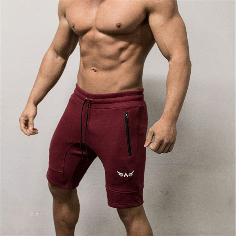 Men Shorts Fitness Bottom Short Pant-9