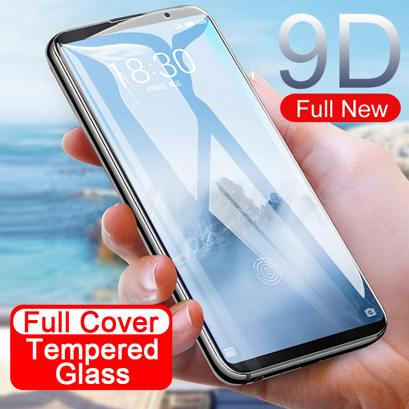 9D Full Cover Tempered Glass On The For Meizu M15 15 Lite 16 16th 16X 15 16 Plus M6 M6S M6T M6 Note Screen Protective Glass Film