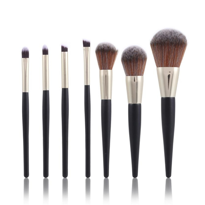 2017 New 7PCS Make Up Foundation Eyebrow Eyeliner Blush Cosmetic Concealer Brushes  fashion drop shipping sep25 2017 new 24pcs mini make up foundation eyebrow eyeliner blush cosmetic concealer brushes beauty drop shipping sep25