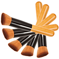 1PCS Professional Makeup Brushes Powder Concealer Blush Foundation Make up Brush Set Wooden Kabuki for Mac Make Up VH013